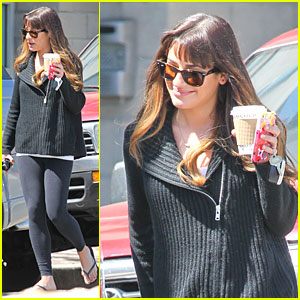Lea Michele Has Major Gratitude For a Monday Coffee!