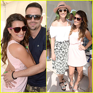 Lea Michele & Katy Perry Are Pretty Pink Babes at Coachella's Lacoste Party!