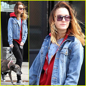 Leighton Meester Takes Windy Walk with Her Pups After PDA Session with Adam Brody