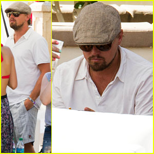 Leonardo DiCaprio Plays it Cool at Coachella Pool Party!