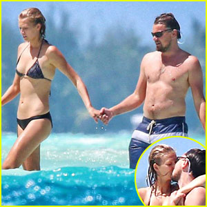 Leonardo DiCaprio & Toni Garrn Kiss & Hold Hands in Bora Bora!