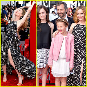 Leslie Mann Brings the Whole Family to the MTV Movie Awards 2014!