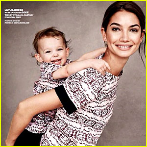 Lily Aldridge & Daughter Dixie Pose for Born Free Africa Campaign!