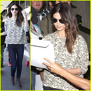 Lily Aldridge Has a Hair-Raising Experience at Disneyland!
