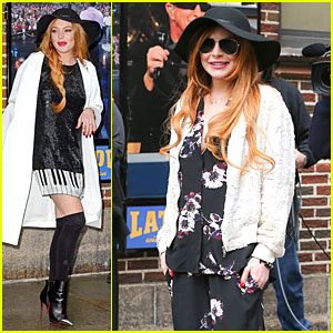 Lindsay Lohan Brings Music to Our Ears on 'Letterman'!