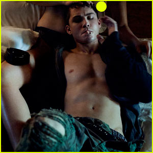 Logan Lerman Lays Shirtless Between Naked Woman's Legs, Says Brad Pitt 'Tortured' Him for 'Fury'!