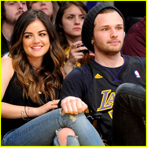 Lucy Hale: Courtside at Lakers Game with Singer Joel Crouse!