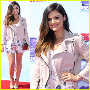 Lucy Hale Has Floral Fun at Radio Disney Music Awards 2014