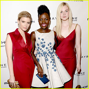 Lupita Nyong'o & Kate Mara Celebrate Their 'Marie Claire' May Covers with Elle Fanning!