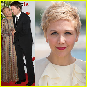Maggie Gyllenhaal Debuts Dyed Blonde Pixie Hairdo at MIPTV 2014!