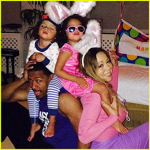 Mariah Carey & Nick Cannon Share Adorable Easter Pics with Twins Moroccan & Monroe!