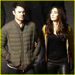 Megan Fox's Husband Brian Austin Green Escorts His Wife on 'Teenage Mutant Ninja Turtles' Set!