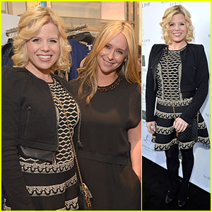 Megan Hilty Shows Off Small Baby Bump at Jennifer Love Hewitt's Maternity Line Launch!