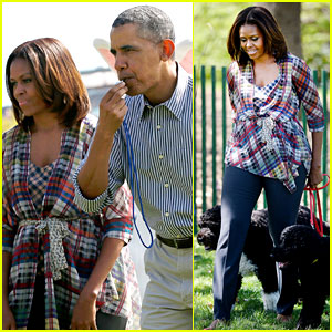 Michelle Obama Brings the First Dogs to the White House Easter Egg Roll!