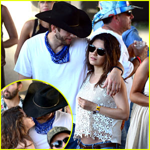 Mila Kunis Puts Partially Bare Baby Bump on Display, Packs on PDA with Ashton Kutcher at Stagecoach Festival!