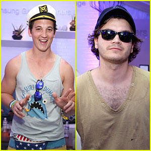 Miles Teller & Emile Hirsch Are Cool Dudes at Coachella's Samsung Galaxy Lounge!