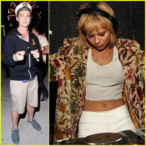 Miles Teller Sails Into the Neon Carnival with 'Divergent' Co-Star Zoe Kravitz at Coachella 2014!
