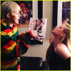 Miley Cyrus & Avril Lavigne Fist Fight in Joke Instagram Video - Watch Now!