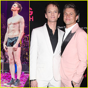 Neil Patrick Harris Gets Support From Partner David Burtka at Opening Night of 'Hedwig and the Angry Inch'!