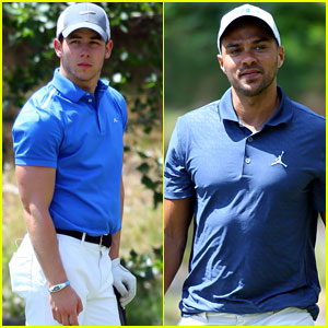 Nick Jonas & Jesse Williams Make Golf Look Good at Michael Jordan's Celebrity Invitational 2014
