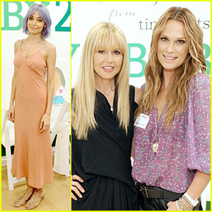 Nicole Richie Continues to Rock Purple Hair at Baby2Baby Mother's Day Celebration!