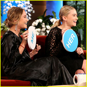 Olsen Twins Play Game of 'Mary-Kate or Ashley?' on 'Ellen'!