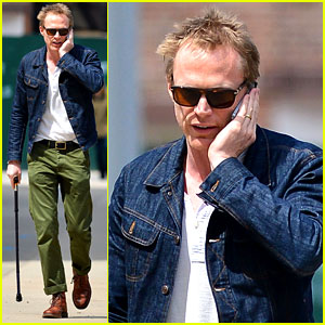 Paul Bettany Uses a Cane to Walk Around New York City