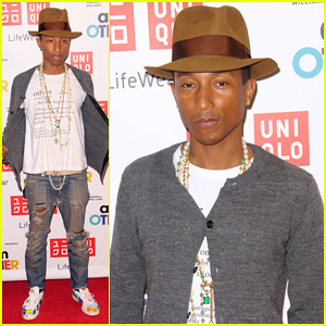Pharrell Williams Doesn't Disappoint in His Signature Hat at 'I Am Other' Collection Launch!