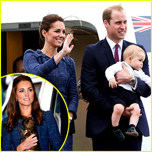 Prince George Makes an Appearance After His Parents Play with Puppies!