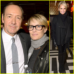 Robin Wright & Kevin Spacey Get In a 'House of Cards' Reunion at Tribeca Film Festival!