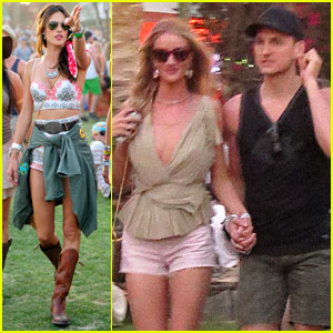 Rosie Huntington-Whiteley & Alessandra Ambrosio Bring Beauty to Coachella!