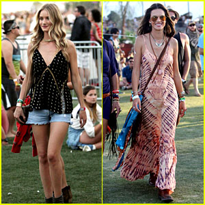 Rosie Huntington-Whiteley & Alessandra Ambrosio Leave the Runway Behind for Coachella!