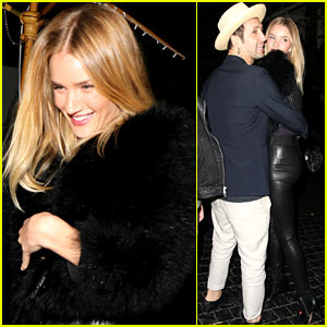 Rosie Huntington-Whiteley is All Wrapped Up With a Male Pal During Birthday Celebrations!