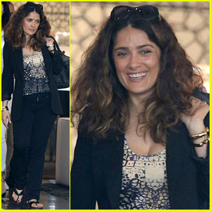 Salma Hayek Says the Only Place She Can Indulge is in the Shower!