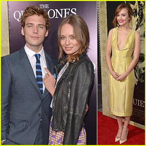 Sam Claflin & Laura Haddock Look in Love at 'The Quiet Ones' Premiere!