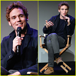 Sam Claflin Promotes 'The Quiet Ones' at His 'Meet The Actors' Session in NYC!
