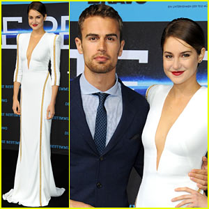 Shailene Woodley & Theo James Take 'Divergent' to Berlin!