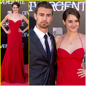 Shailene Woodley Goes Red Hot for 'Divergent' Madrid Premiere