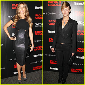 Sofia Vergara & Vanessa Paradis Stun in Black at 'Fading Gigilo' NYC Screening!