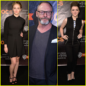 Sophie Turner & Maisie Williams Premiere 'Game of Thrones' Season 4 in Paris!