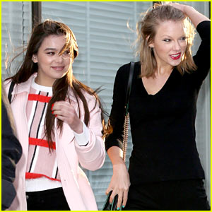 Taylor Swift & Hailee Steinfeld Get Caught in the Wind But Won't Let it Ruin Their Evening!