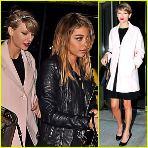 Taylor Swift & Sarah Hyland See an Off-Broadway Play Together!