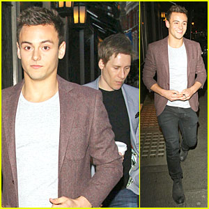 Tom Daley's Perfect 10 Is a Dapper Dustin Lance Black on Date Night!