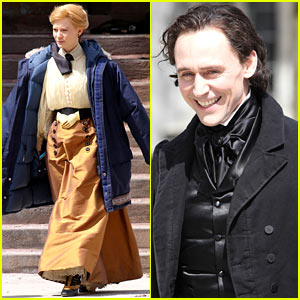 Tom Hiddleston & Mia Wasikowska Don Period Attire for 'Crimson Peak'