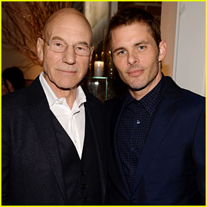 Professor X & Cyclops Reunite! Patrick Stewart & James Marsden Meet Up at IWC's Tribeca Dinner!