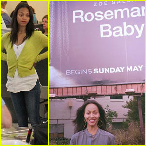 Zoe Saldana Has Been Posting Selfies in Front of 'Rosemary's Baby' Billboards!