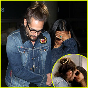 Zoe Saldana & Marco Perego Share Airport Smooches As 'Rosemary's Baby' Trailer Premieres