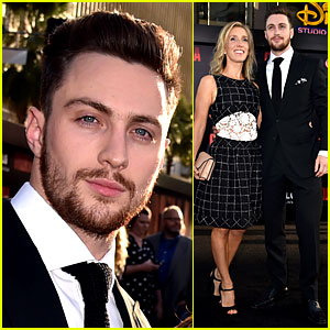 Aaron Taylor-Johnson Brings Wife Sam to 'Godzilla' Premiere!
