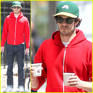 Adam Brody Spends His Saturday Morning in the Spring Sun!