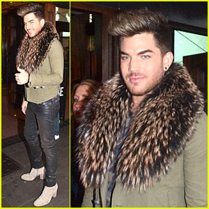 Adam Lambert Makes Fur Entrance at 'We Will Rock You' Show!